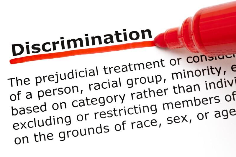 Discrimination underlined with red marker