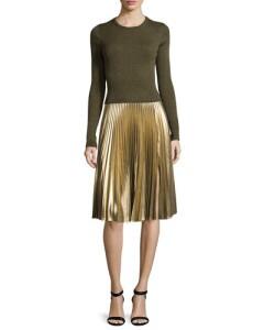 ALC BG Metallic pleated skirt