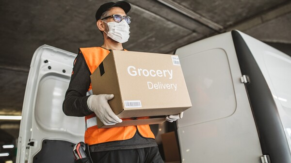 Grocery delivery worker