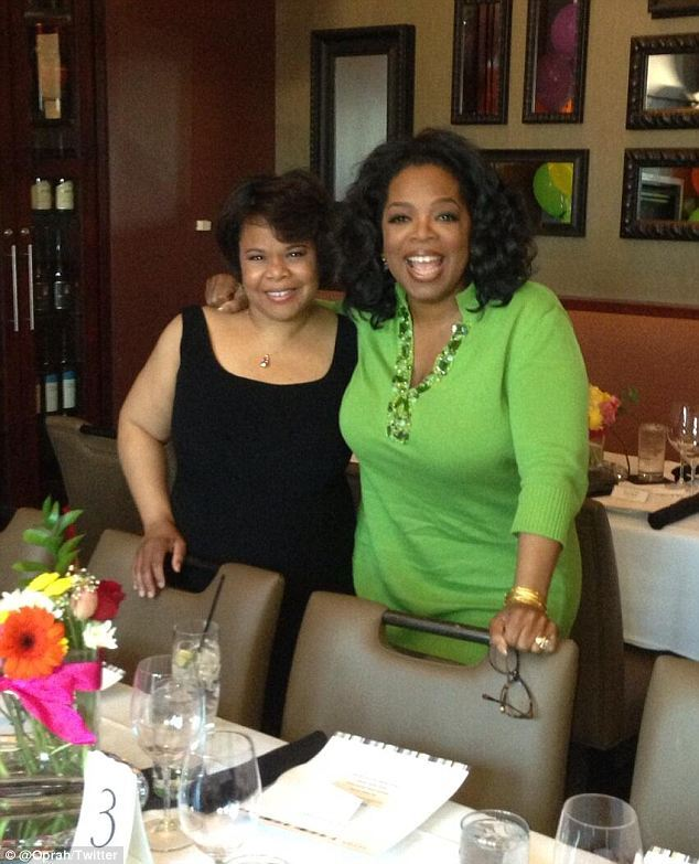 oprah and sis at party