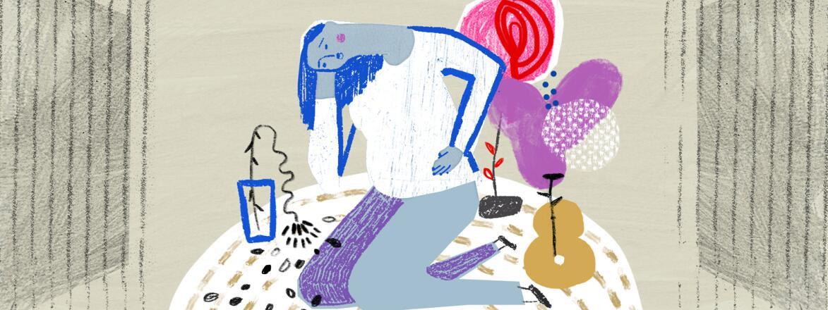 aarp, girlfriend, miscarriage, illustration