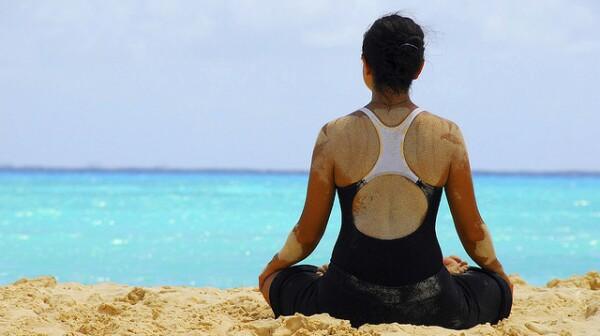 ABRAHMS yoga on beach
