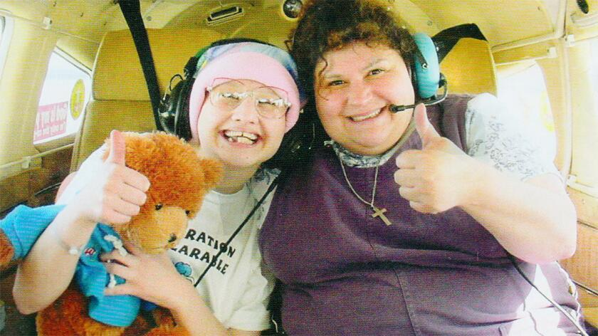 A still of Gypsy Rose Blanchard and her mother, Dee Dee Blanchard, from the documentary film Mommy Dead and Dearest.