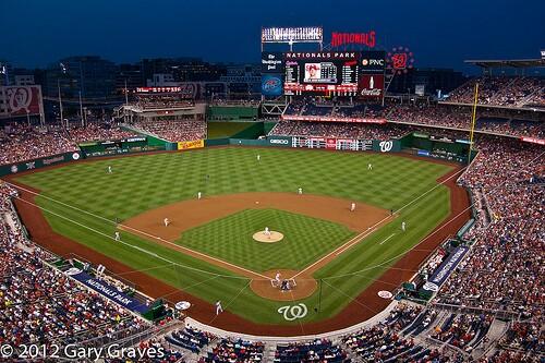 Night Baseball Washington Nationals by Gary Graves (creative commons license)