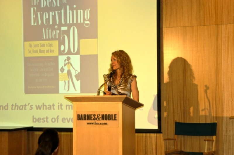 Barbara presenting at B&N event