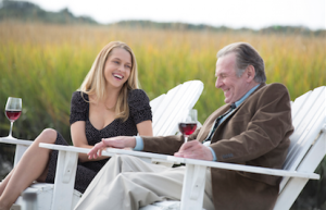 """Teresa Palmer and Tom Wilkinson in """"The Choice"""""""