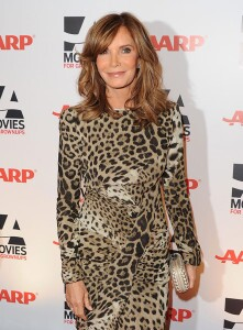 Jaclyn Smith in leopard print