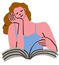 girlfriend, aarp, reading