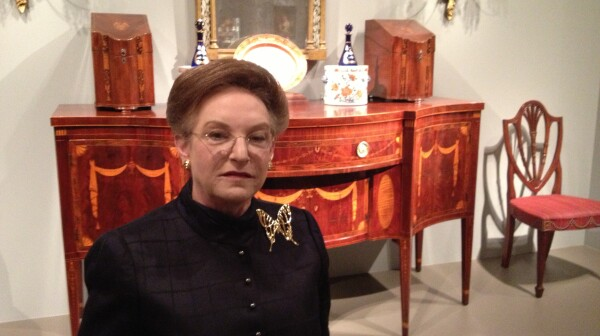 Collector Linda Kaufman at the National Gallery of Art