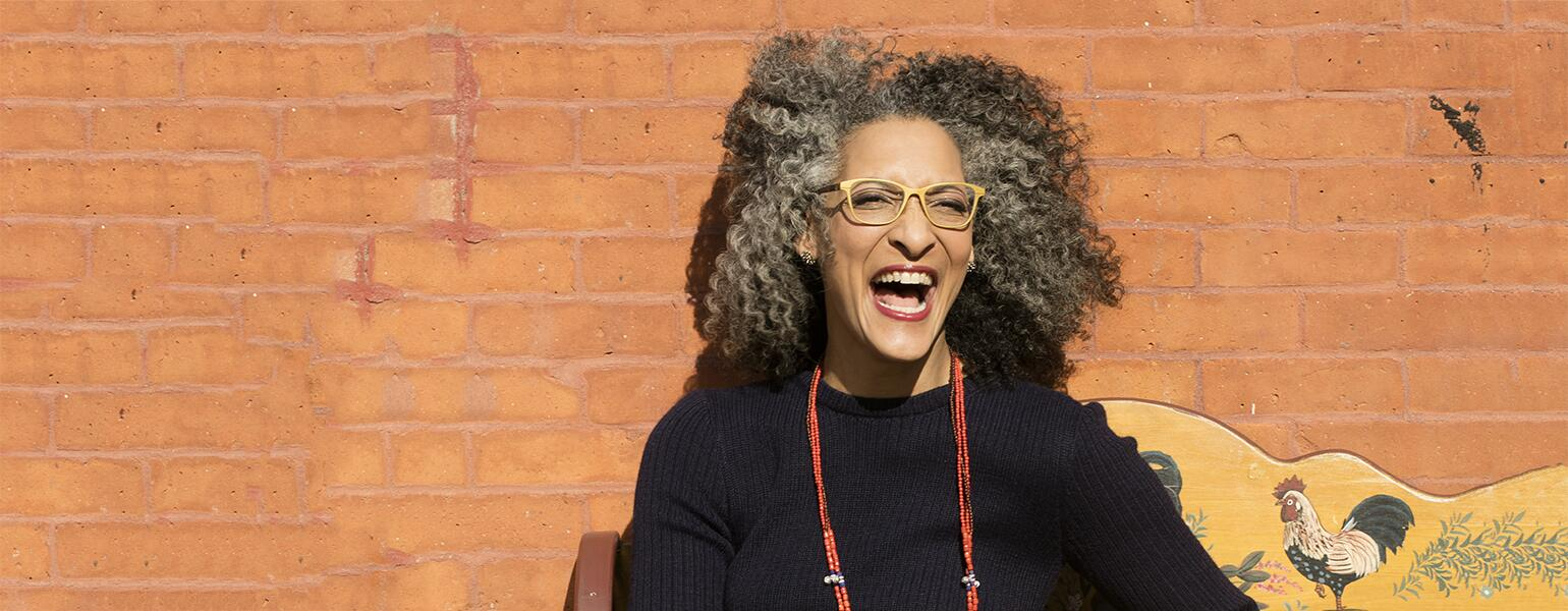 photo of Carla Hall laughing
