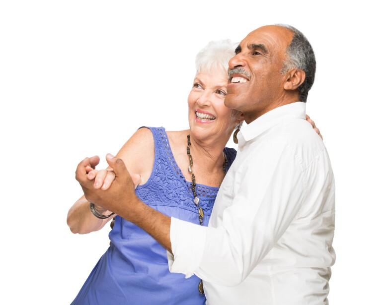 Older Latin Couple Dancing