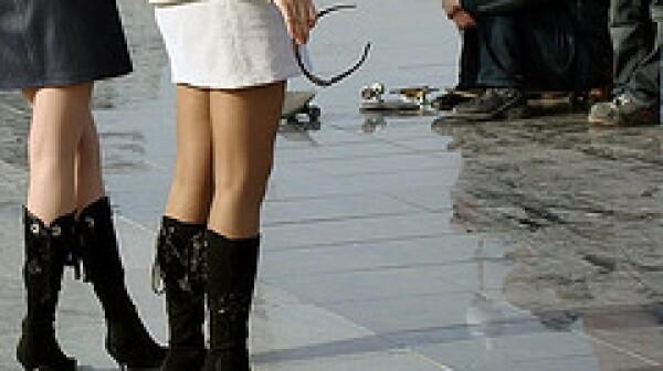 women in miniskirts