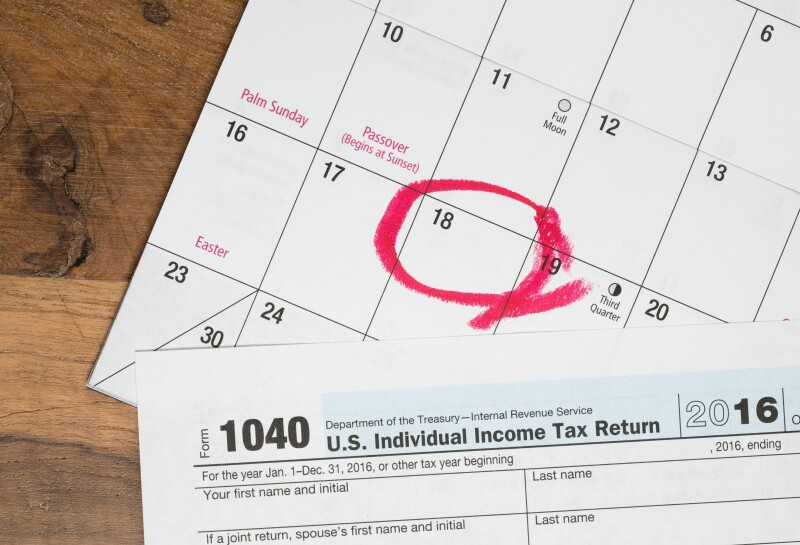 Tax day for 2016 returns is April 18, 2017