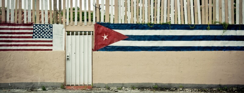 Wall with flags in Miami