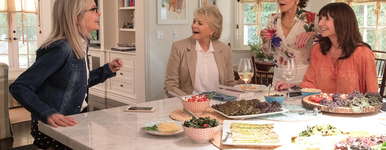 AARP, the Girlfriend, 50 shades of grey, the book club movie, diane keaton, Candice Bergen, Jane Fonda, Mary Steenburgen
