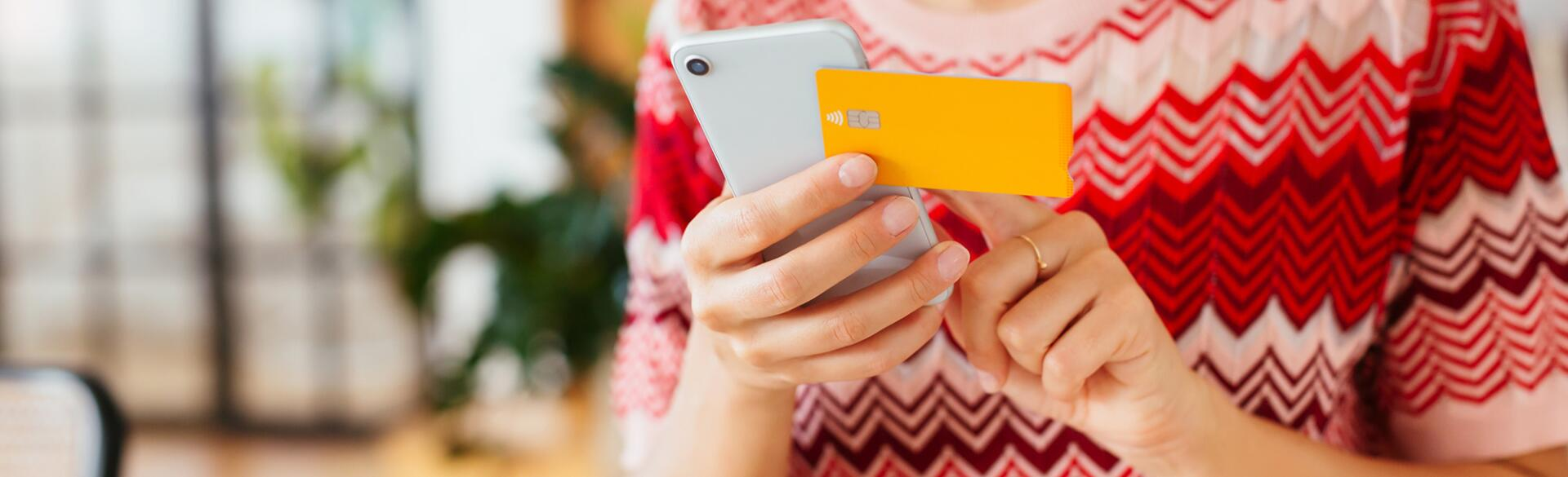Crop Woman Using Smartphone For Online Shopping