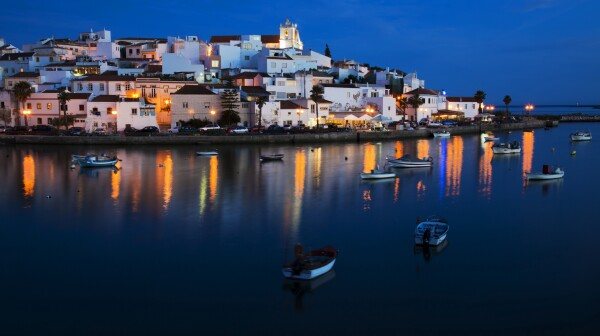 Ferragudo - a typical city of Algarve.