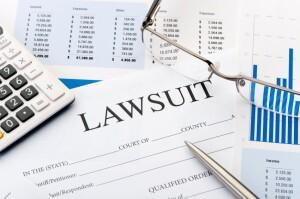 Lawsuit form on a desk