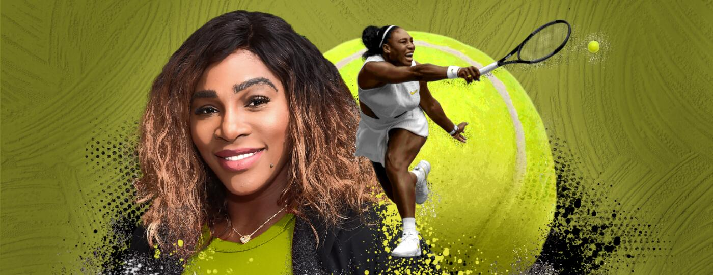 Serena Williams photo illustration