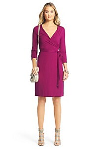 New Julian Two Jersey Wrap Dress (DVF)