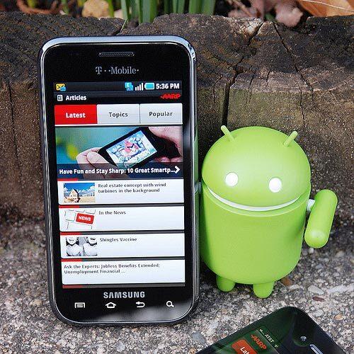 Photo of AARP Adnroid app prototype