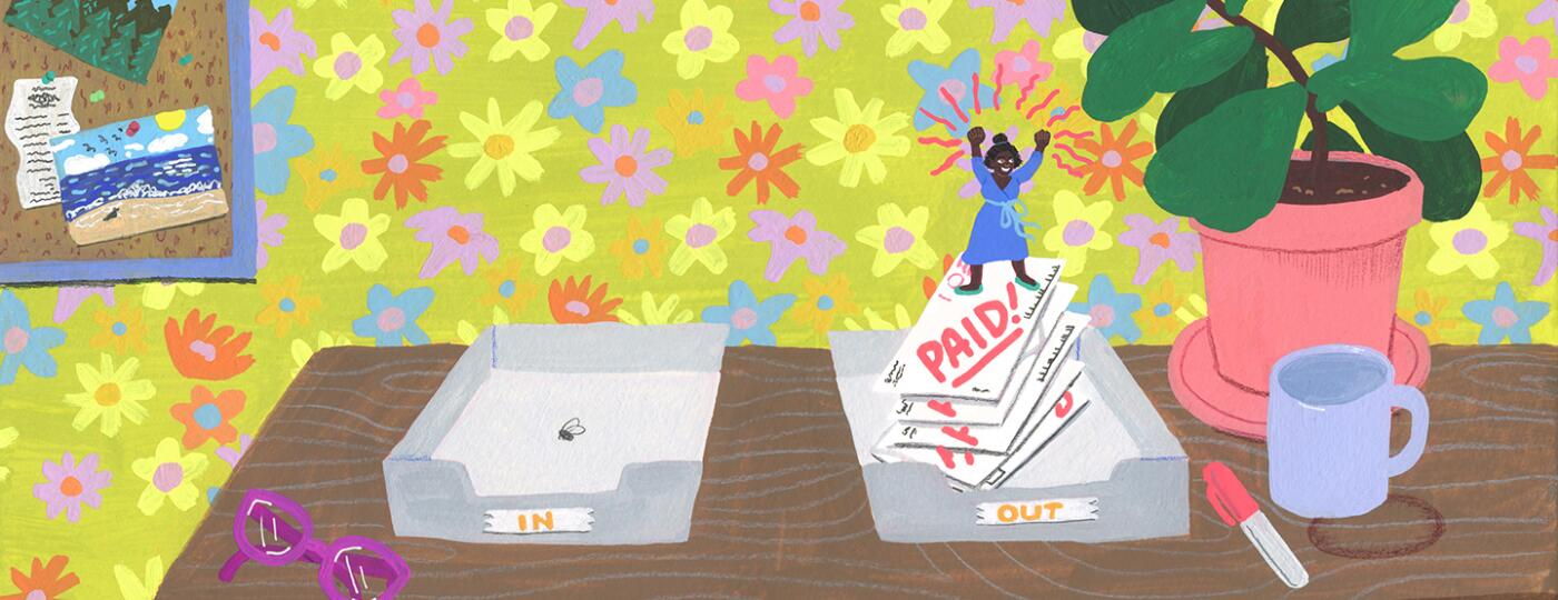 illustration_of_woman_finishing_paying_bills_clearing_debt_by_janna_morton_1440x560.jpg