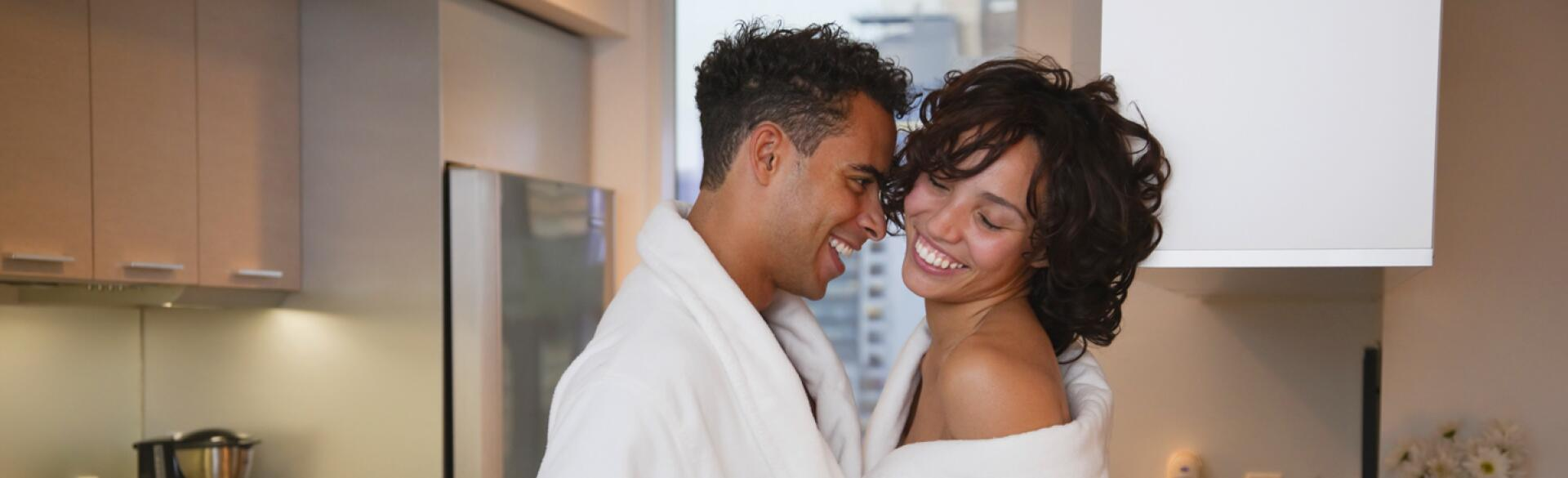couple, dating, sex, kitchen