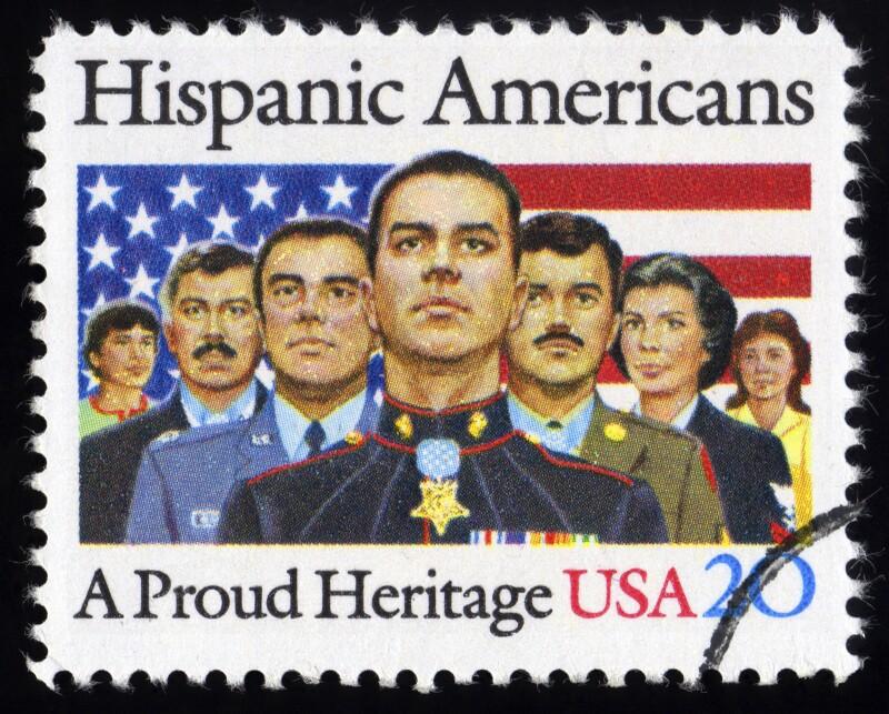 USA Postage Stamp Hispanic American