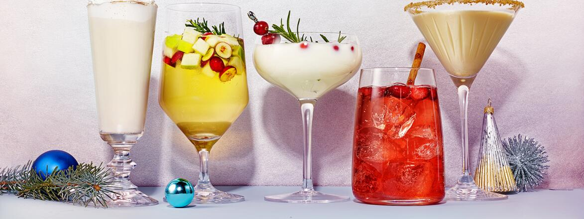 5 different festive holiday cocktails