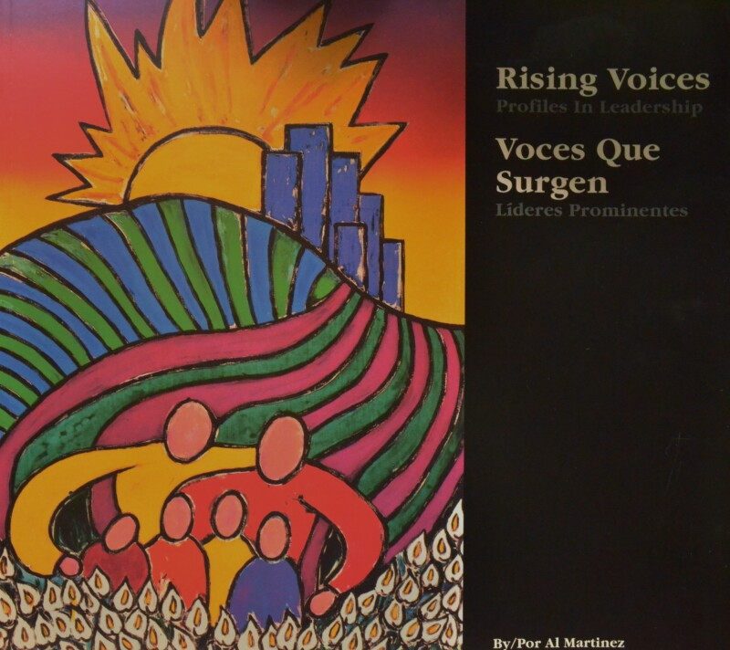 "Latio Author Al Martinez's book titled: ""Rising Voices"""