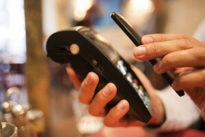 Paying at Starbucks with smartphone