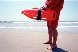 Older lifeguard