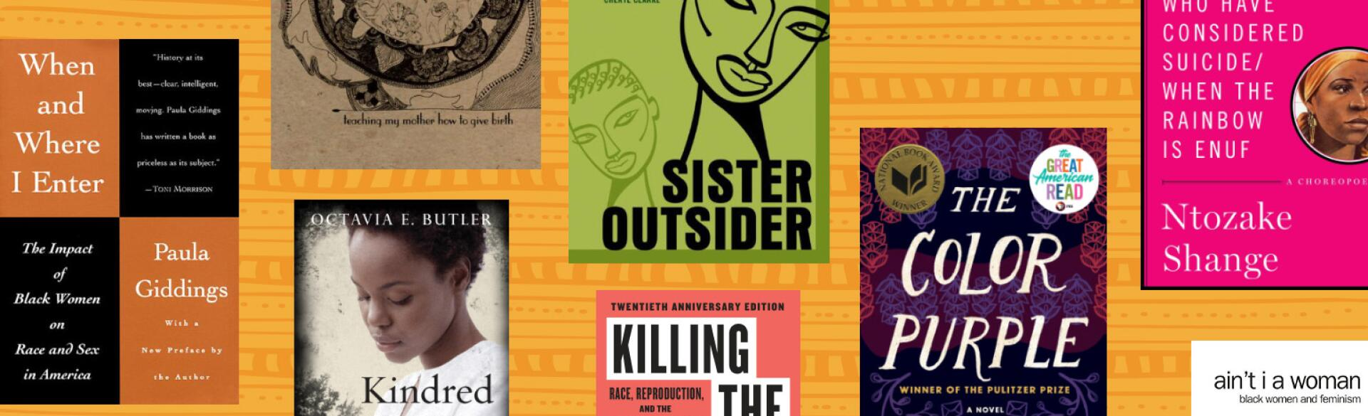 collage of books that black women should read
