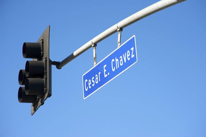 Cesar Chavez street sign