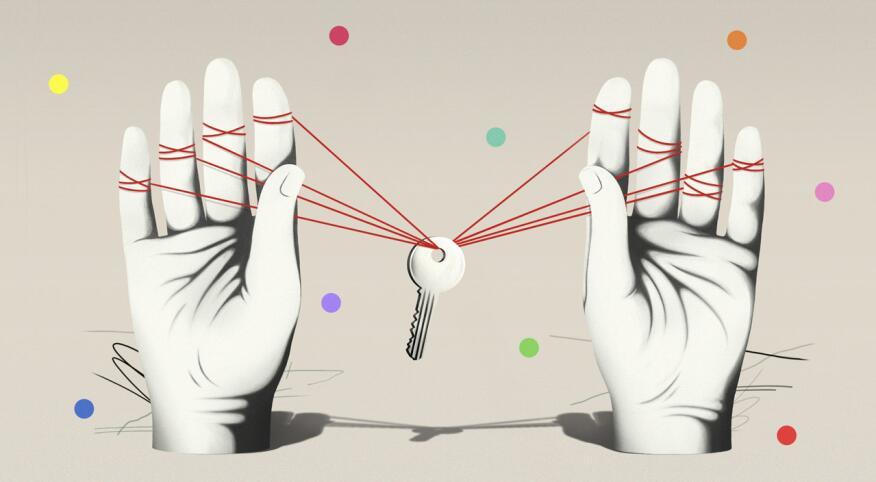 keys, hand, memory loss, forgetting, illustrator, Juanjo Gasull