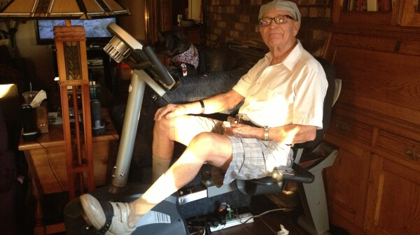 Amy Goyer shares tips for keeping her 90 year-old Dad cool and exercising in the summer heat.