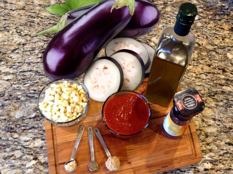 ingredients eggplant sauce