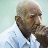 Depressed older man