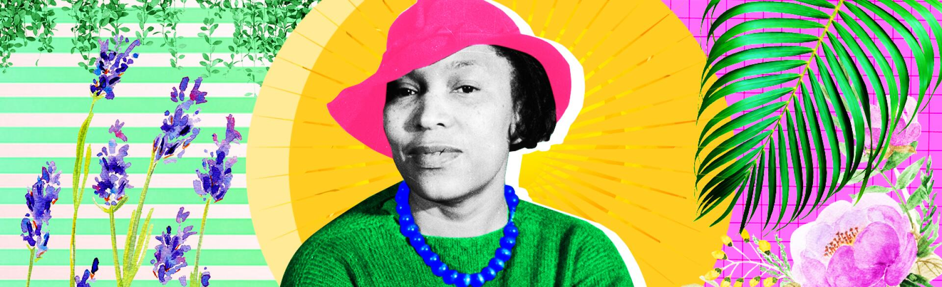 photo montage of zora neale hurston by lyne lucien