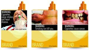 New graphic cigarette warning labels