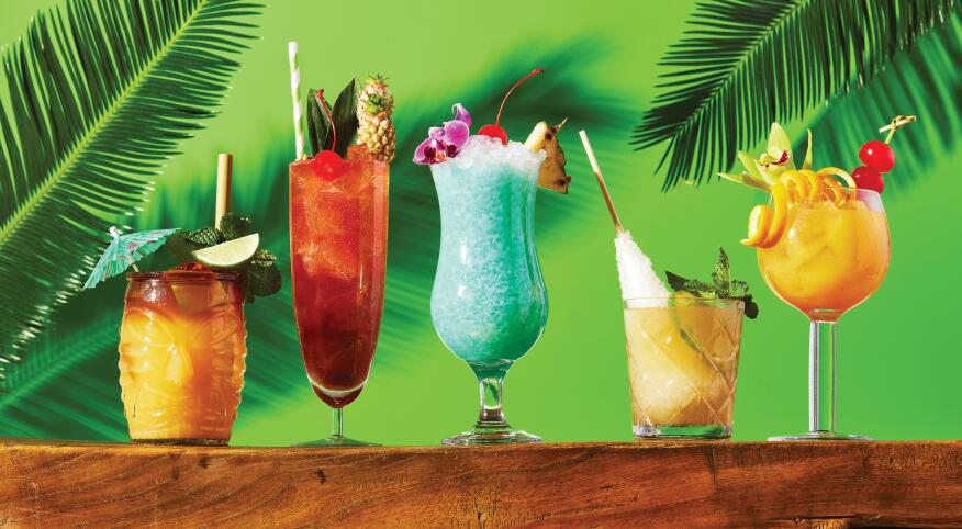 Tropical Cocktails For Your Backyard