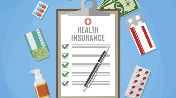 Health insurance form. Filling medical documents