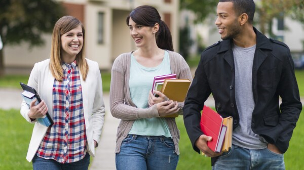 Students Walking To The College