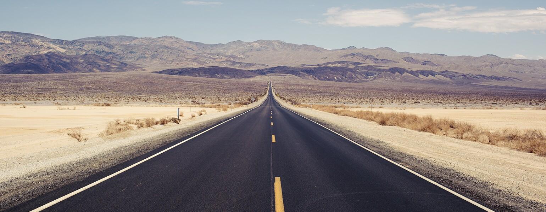 Lonely, loneliness, empty, dessert, road