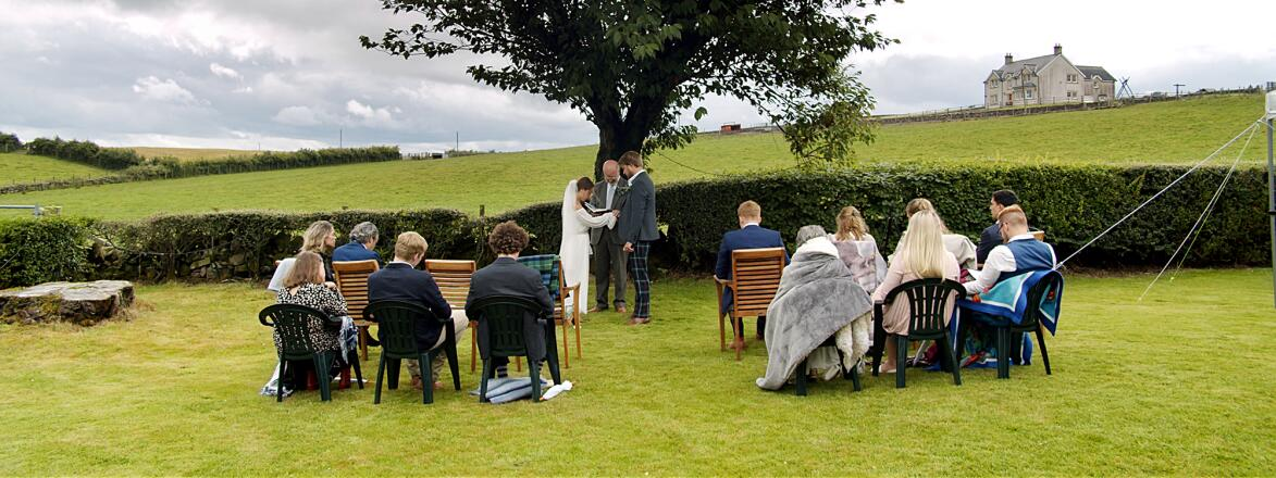 wedding during the COVID 19 pandemic in the countryside of Scotland