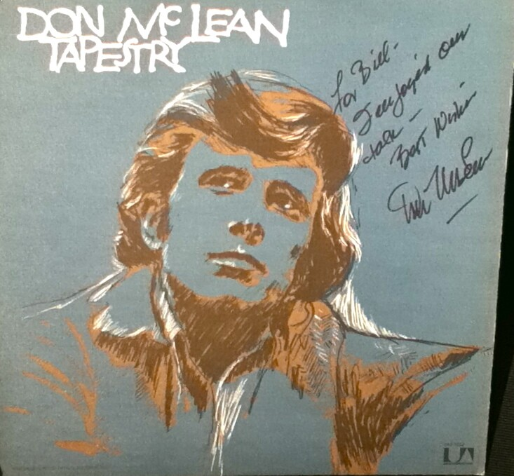 Tapestry cover autographed