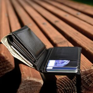 Lost wallet left on bench with cash and credit cards