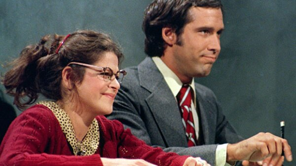 Gilda Radner and Chevy Chase, Saturday Night Live