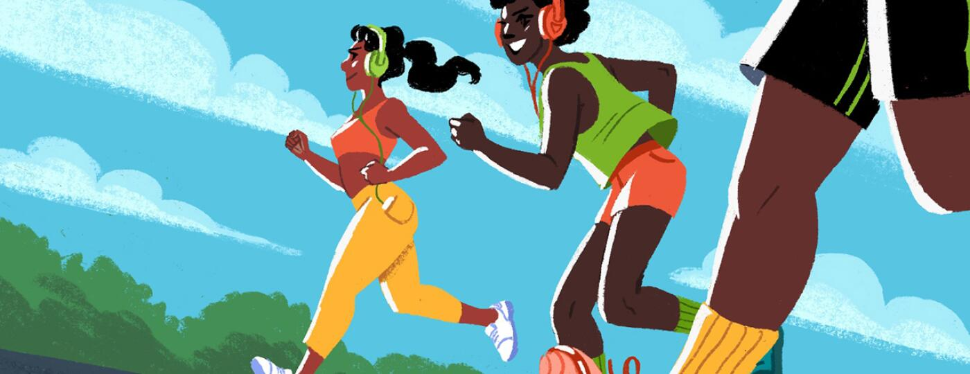 illustration_of_3_ladies_walking_sisters_spotify_playlist_by_charlot_kristensen_1440x584