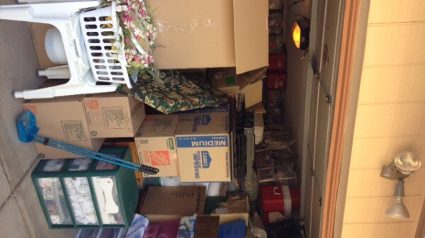 Garage full of boxes